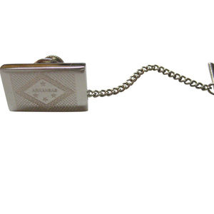 Silver Toned Etched Arkansas State Flag Tie Tack